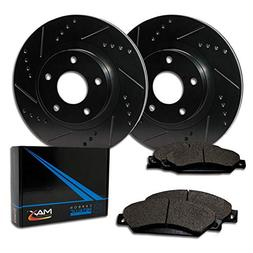 Max Brakes E-Coated Slotted|Drilled Rotors w/Metallic Brake