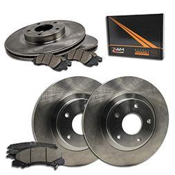 Max Brakes OE Series Rotors w/Ceramic Brake Pads Front + Rea
