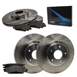 Max Brakes Front + Rear OE Series Rotors w/Metallic Pads Pre