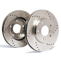 max brakes rear cross drilled rotors performance