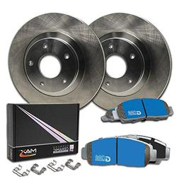Max Brakes Rear OE Series Rotors w/M1 Brake Pads Supreme Bra