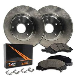 Max KH068341 Front Premium OE Replacement Rotors with Cerami