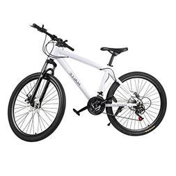 "Belovedkai Mountain Bike 26"" Carbon Steel Frame 21 Speed Whe"