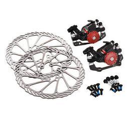Mountain Mechanical Bike Bicycle Disc Brakes and Rotors Kit