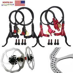 MTB Bike Front Rear Hydraulic Calipers Disc Brakes 160/180mm