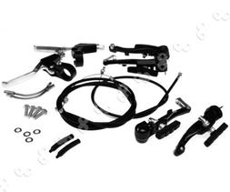 New Brakes CablesCaliper + Brake Levers V Set For BMX Mounta