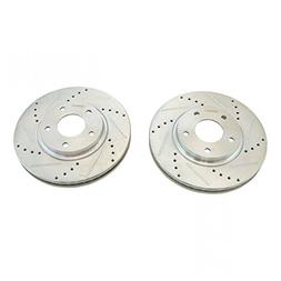Performance Brake Rotor Drilled & Slotted Coated Front Pair