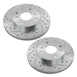 Performance Drilled & Slotted Front Zinc Coated Disc Brake R