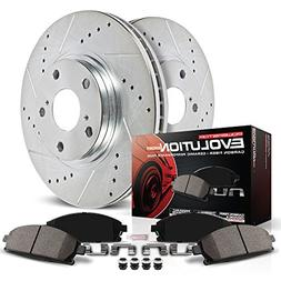 Power Stop K5951 Front Z23 Evolution Brake Kit with Drilled/