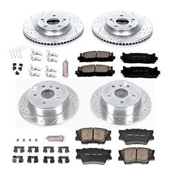 Power Stop K6480 Front and Rear Z23 Evolution Brake Kit with