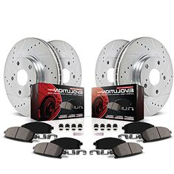 Power Stop K6075 Front and Rear Z23 Evolution Brake Kit with