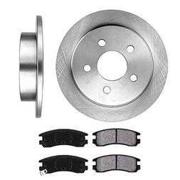 REAR 278 mm Premium OE 5 Lug  Brake Disc Rotors +  Metallic