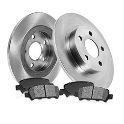 REAR 280.8 mm Premium OE 5 Lug  Brake Disc Rotors +  Metalli
