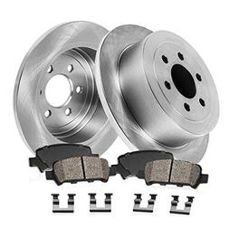 REAR 312 mm Premium OE 6 Lug  Brake Disc Rotors +  Ceramic B