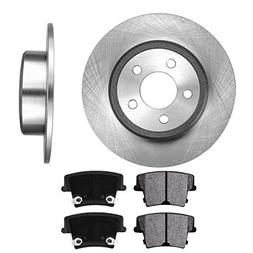 REAR 320 mm Premium OE 5 Lug  Brake Disc Rotors +  Metallic