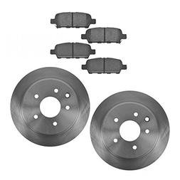 Rear Premium Posi Ceramic Brake Pad & Rotor Kit Set for Niss