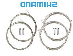 SHIMANO Road Brake and Shifter Cable Set Bundle, Housing Sol