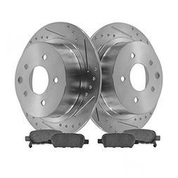 Rotor & Brake Pad Posi Ceramic Performance Drilled Slotted R