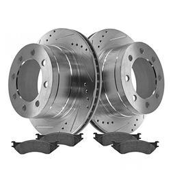 Rotor & Brake Pad Posi Metallic Performance Drilled Slotted