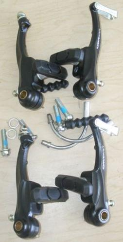 SET BLACK TEKTRO BICYCLE V-BRAKES BIKE PARTS 580