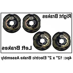 """4pc Electric Trailer Brake 12"""" x 2"""" Assembly Right & Left SI"""