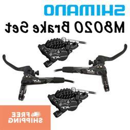 Shimano XT BL-M8000/BR-M8020 4 Piston Disc Brake Set Front &